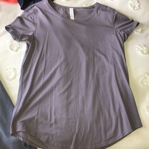 Purple lululemon T-shirt